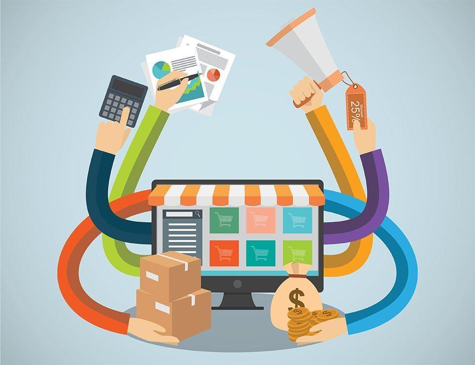 حجم التجارة الإلكترونية