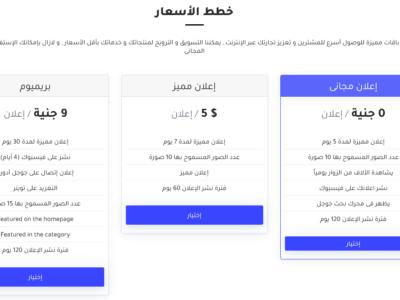 تصميم موقع اعلانات مبوبة مثل اولكس